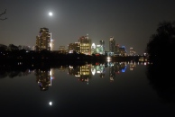 Full Christmas Moon -- Downtown from Lou Neff Point