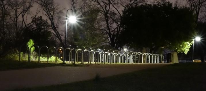 Bike Rack Behind Barton Springs