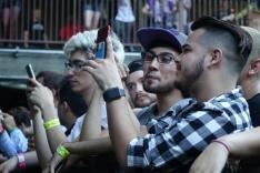 Fans wait before CHVRCHES, Alvvays show at Stubbs BBQ, Austin, April 27, 2016.