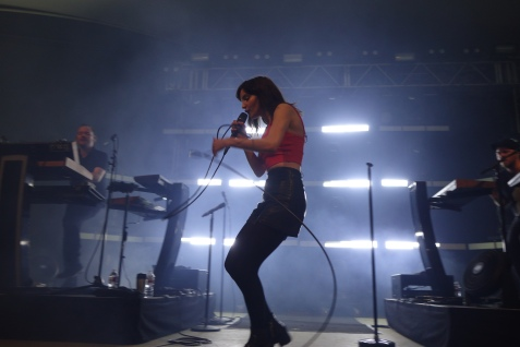 Iain Cook, Lauren Mayberry, Martin Doherty of CHVRCHES